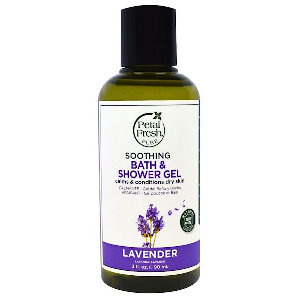 PETAL FRESH, PURE, SOOTHING BATH & SHOWER GEL, LAVENDER, 3 FL OZ / 90ml