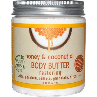 PETAL FRESH, PURE, BODY BUTTER, RESTORING, HONEY & COCONUT OIL, 8 OZ / 237ml