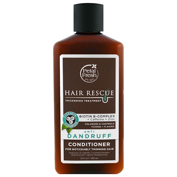 PETAL FRESH, PURE, HAIR RESCUE THICKENING TREATMENT CONDITIONER, ANTI DANDRUFF, 12 FL OZ / 355ml