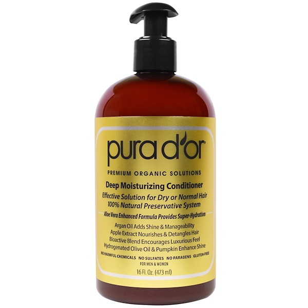 PURA D'OR, DEEP MOISTURIZING CONDITIONER, 16 FL OZ / 473ml