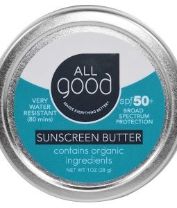 ALL GOOD PRODUCTS, ALL GOOD, SUNSCREEN BUTTER, SPF 50, 1 OZ / 28g