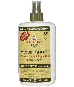 ALL TERRAIN, HERBAL ARMOR, NATURAL INSECT REPELLENT, DEET-FREE PUMP SPRAY, 8.0 FL OZ / 240ml