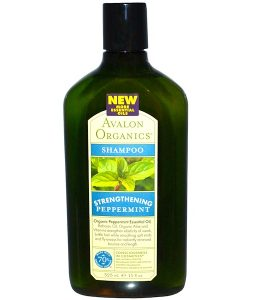 AVALON ORGANICS, SHAMPOO, STRENGTHENING, PEPPERMINT, 11 FL OZ / 325ml