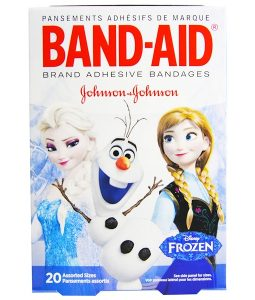 BAND AID, ADHESIVE BANDAGES, DISNEY FROZEN, 20 ASSORTED SIZES