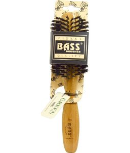 BASS BRUSHES, CLASSIC HAIR ROUND STYLE, HAIR BRUSH, 100% WILD BOAR BRISTLES, HALF CIRCLE, WOOD HANDLE, 1 HAIR BRUSH