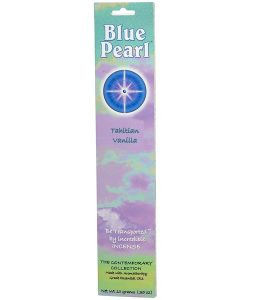 BLUE PEARL, THE CONTEMPORARY COLLECTION, TAHITIAN VANILLA INCENSE, .35 OZ / 10g