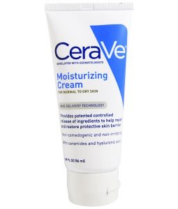CERAVE, MOISTURIZING CREAM, FOR NORMAL TO DRY SKIN, 1.89 FL OZ / 56ml