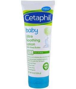 CETAPHIL, BABY, ULTRA SOOTHING LOTION WITH SHEA BUTTER, 8 OZ / 226g