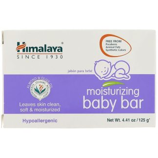 HIMALAYA, MOISTURIZING BABY BAR, 4.41 OZ / 125g