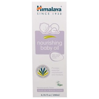 HIMALAYA, NOURISHING BABY OIL, OLIVE OIL AND WINTER CHERRY, 6.76 FL OZ / 200ml