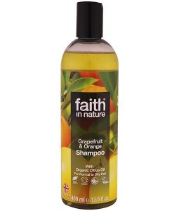 FAITH IN NATURE, SHAMPOO, FOR NORMAL TO OILY HAIR, GRAPEFRUIT & ORANGE, 13.5 FL OZ / 400ml