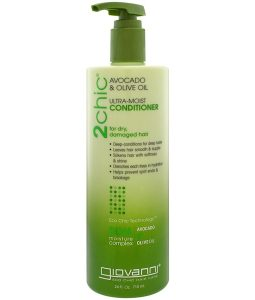 GIOVANNI, 2CHIC, ULTRA-MOIST CONDITIONER, FOR DRY, DAMAGED HAIR, AVOCADO & OLIVE OIL, 24 FL OZ / 710ml