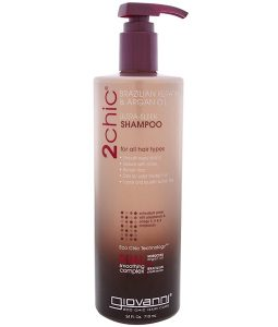GIOVANNI, 2CHIC, ULTRA-SLEEK SHAMPOO, FOR ALL HAIR TYPES, BRAZILIAN KERATIN & ARGAN OIL, 24 FL OZ / 710ml
