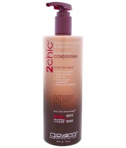 GIOVANNI, 2CHIC, ULTRA-SLEEK CONDITIONER, FOR ALL HAIR TYPES, BRAZILIAN KERATIN & ARGAN OIL, 24 FL OZ / 710ml