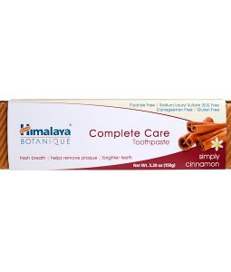 HIMALAYA, BOTANIQUE, COMPLETE CARE TOOTHPASTE, SIMPLY CINNAMON, 5.29 OZ / 150g