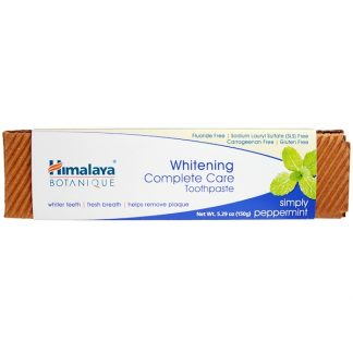 HIMALAYA, BOTANIQUE, WHITENING COMPLETE CARE TOOTHPASTE, SIMPLY PEPPERMINT, 5.29 OZ / 150g