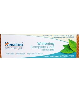 HIMALAYA, BOTANIQUE, WHITENING COMPLETE CARE TOOTHPASTE, SIMPLY MINT, 5.29 OZ / 150g