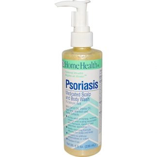 HOME HEALTH, PSORIASIS, MEDICATED SCALP AND BODY WASH, 8 FL OZ / 236ml
