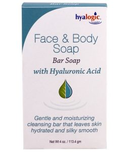 HYALOGIC LLC, FACE & BODY SOAP, WITH HYALURONIC ACID, 4 OZ / 113.4g