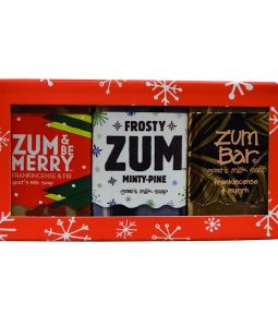 INDIGO WILD, ASSORTED HOLIDAY MINI 3 BAR BOX, 3 PIECE KIT