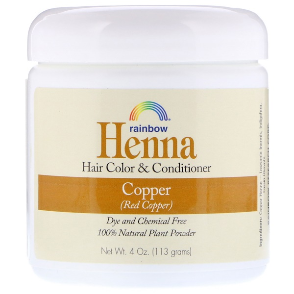 RAINBOW RESEARCH, HENNA, HAIR COLOR AND CONDITIONER, COPPER (RED COPPER), 4 OZ / 113g