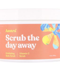 ASUTRA, SCRUB THE DAY AWAY, EXFOLIATING BODY SCRUB, VITAMIN C SCRUB, 12 OZ / 350g