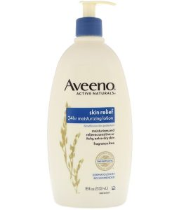AVEENO, ACTIVE NATURALS, SKIN RELIEF 24HR MOISTURIZING LOTION, FRAGRANCE-FREE, 18 FL OZ / 532ml