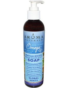AROMA NATURALS, 4-IN-1 SOAP, GLOBAL MINTS, 8 FL OZ / 237ml