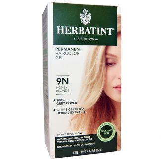 HERBATINT, PERMANENT HAIRCOLOR GEL, 9N, HONEY BLONDE, 4.56 FL OZ / 135ml