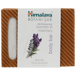 HIMALAYA, BOTANIQUE, BODY BAR, REFRESHING LAVENDER & ROSEMARY, 4.41 OZ / 125g