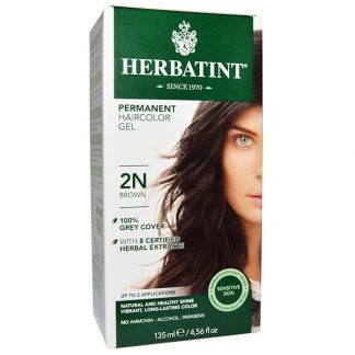 HERBATINT, PERMANENT HAIRCOLOR GEL, 2N, BROWN, 4.56 FL OZ / 135ml