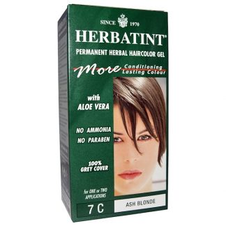 HERBATINT, PERMANENT HERBAL HAIRCOLOR GEL, 7C, ASH BLONDE, 4.56 FL OZ / 135ml