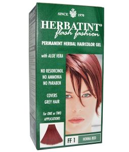 HERBATINT, PERMANENT HERBAL HAIRCOLOR GEL, FF 1 HENNA RED, 4.56 FL OZ / 135ml