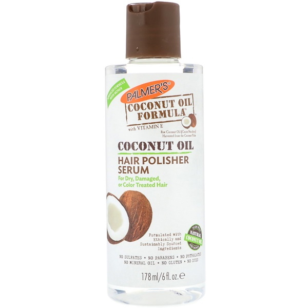 PALMER'S, COCONUT OIL FORMULA, HAIR POLISHER SERUM, 6 FL OZ / 178ml