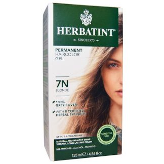 HERBATINT, PERMANENT HAIRCOLOR GEL, 7N BLONDE, 4.56 FL OZ / 135ml