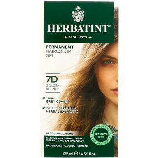 HERBATINT, PERMANENT HAIRCOLOR GEL, 7D, GOLDEN BLONDE, 4.56 FL OZ / 135ml