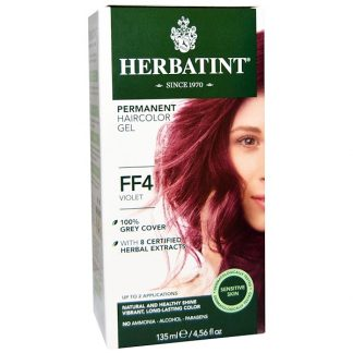 HERBATINT, PERMANENT HAIRCOLOR GEL, FF 4, VIOLET, 4.56 FL OZ / 135ml