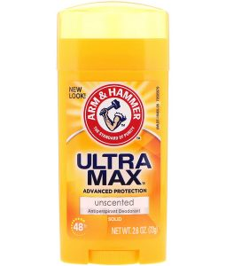 ARM & HAMMER, ULTRAMAX, SOLID ANTIPERSPIRANT DEODORANT, FOR WOMEN, UNSCENTED, 2.6 OZ / 73g