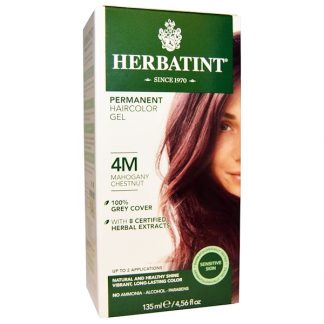 HERBATINT, PERMANENT HAIRCOLOR GEL, 4M, MAHOGANY CHESTNUT, 4.56 FL OZ / 135ml
