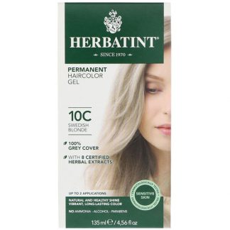 HERBATINT, PERMANENT HAIRCOLOR GEL, 10C, SWEDISH BLONDE, 4.56 FL OZ / 135ml