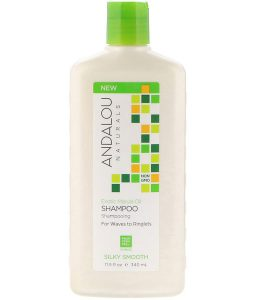 ANDALOU NATURALS, SHAMPOO, SILKY SMOOTH, FOR WAVES TO RINGLETS, EXOTIC MARULA OIL, 11.5 FL OZ / 340ml