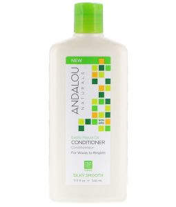 ANDALOU NATURALS, CONDITIONER, SILKY SMOOTH, FOR WAVES TO RINGLETS, EXOTIC MARULA OIL, 11.5 FL OZ / 340ml