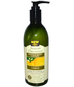 AVALON ORGANICS, HAND & BODY LOTION, LEMON, 12 OZ / 340ml