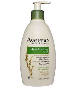 AVEENO, ACTIVE NATURALS, DAILY MOISTURIZING LOTION, FRAGRANCE FREE, 12 FL OZ / 354ml
