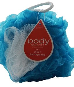 BODY BENEFITS, BY BODY IMAGE, 2-IN-1 BATH SPONGE, 1 SPONGE