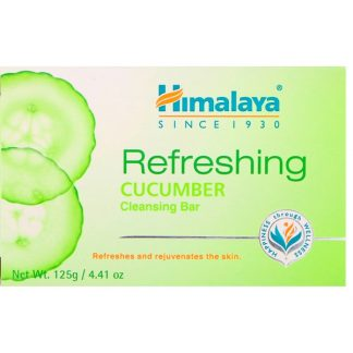 HIMALAYA, REFRESHING CLEANSING BAR, CUCUMBER, 4.41 OZ / 125g