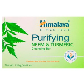 HIMALAYA, PURIFYING CLEANSING BAR, NEEM & TURMERIC, 4.41 OZ / 125g