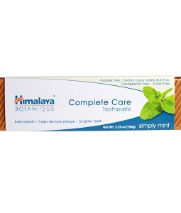 HIMALAYA, BOTANIQUE, COMPLETE CARE TOOTHPASTE, SIMPLY MINT, 5.29 OZ / 150g