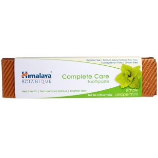 HIMALAYA, BOTANIQUE, COMPLETE CARE TOOTHPASTE, SIMPLY PEPPERMINT, 5.29 OZ / 150g