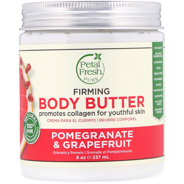 PETAL FRESH, PURE, BODY BUTTER, FIRMING, POMEGRANATE & GRAPEFRUIT, 8 OZ / 237ml